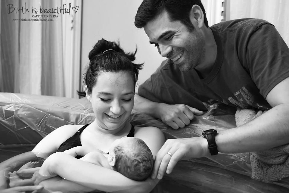 Gideon, home birth photography, water birth photography, Mansfield, texas